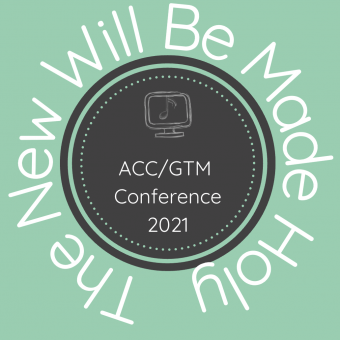 The New Will Be Made Holy in a circle around a brown circle with a computer screen and the ACC and GTM