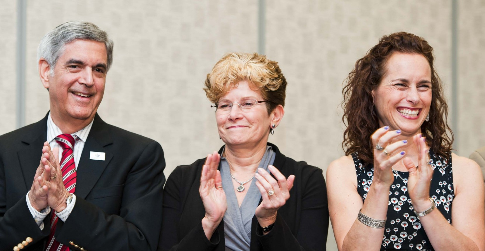 Cantors Richard Cohn, Kay Greenwald and Susan Caro, past presidents of the ACC