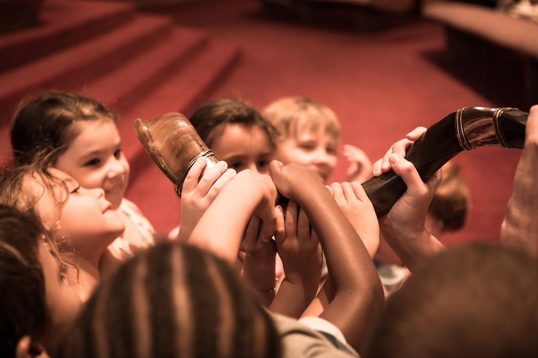 Children with Shofar
