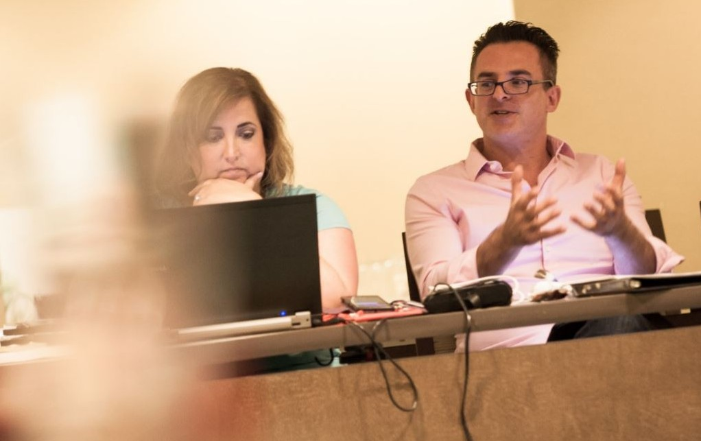 ACC COO Rachel Roth and ACC President Cantor Mark Goldman