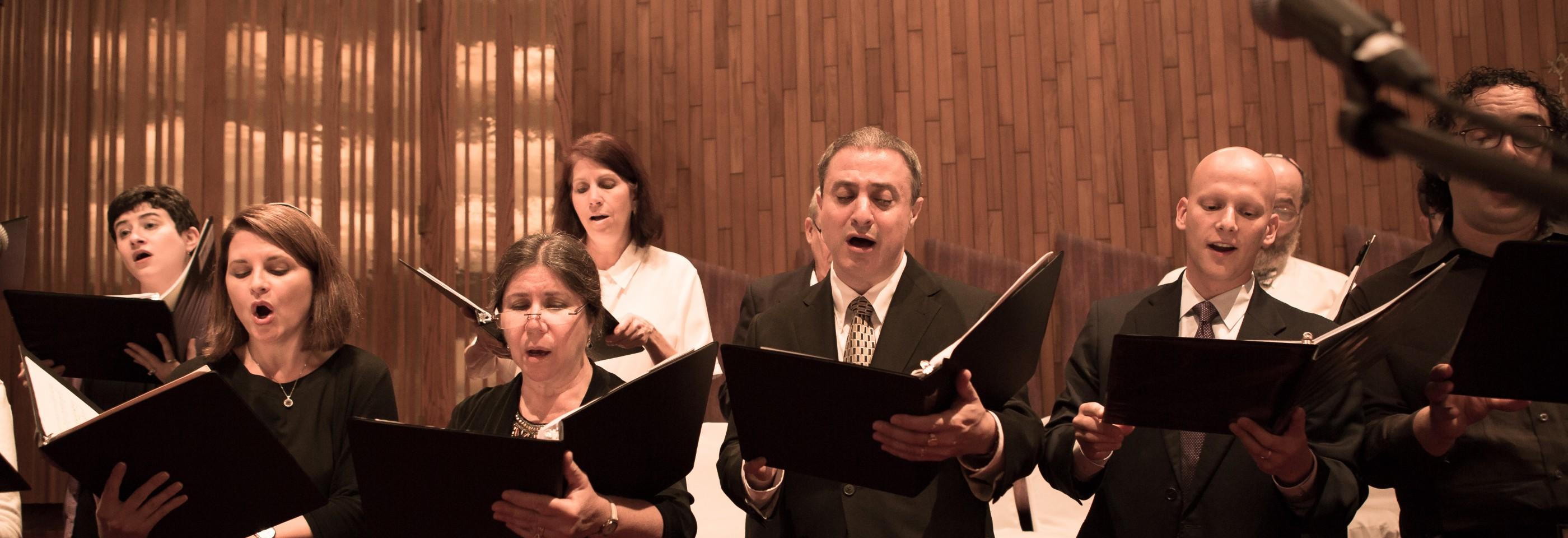 Cantors singing in a choir